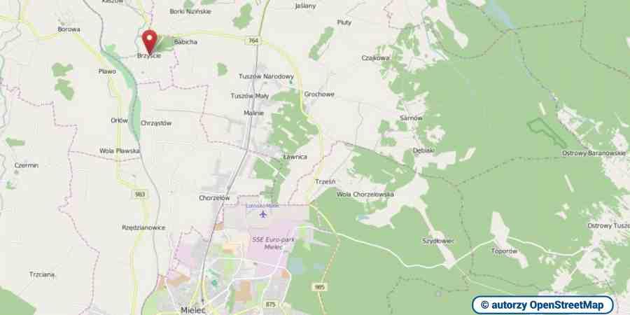 lokalizacja oferty 3053 LOKUM Nieruchomości Mielec na mapach OpenStreetMap