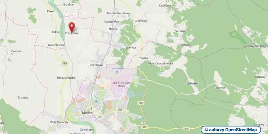 lokalizacja oferty 3090 LOKUM Nieruchomości Mielec na mapach OpenStreetMap