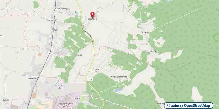 lokalizacja oferty 3114 LOKUM Nieruchomości Mielec na mapach OpenStreetMap
