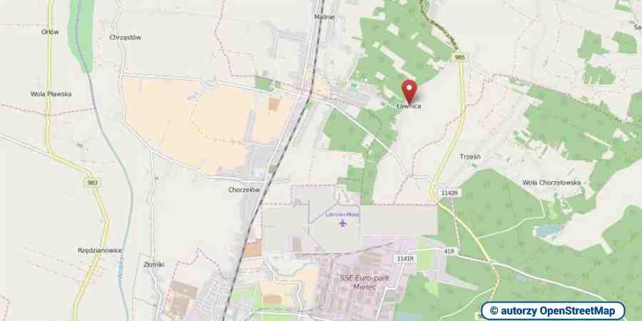lokalizacja oferty 3083 LOKUM Nieruchomości Mielec na mapach OpenStreetMap