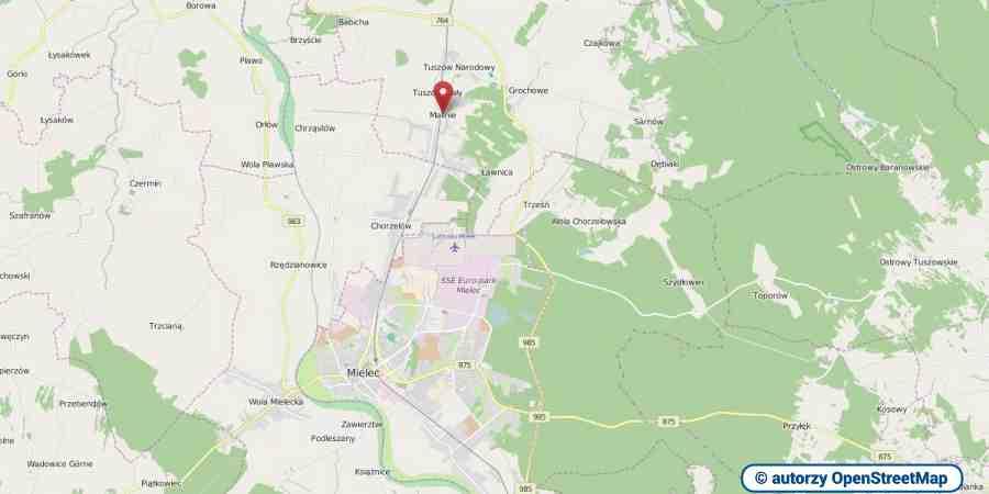 lokalizacja oferty 3017 LOKUM Nieruchomości Mielec na mapach OpenStreetMap