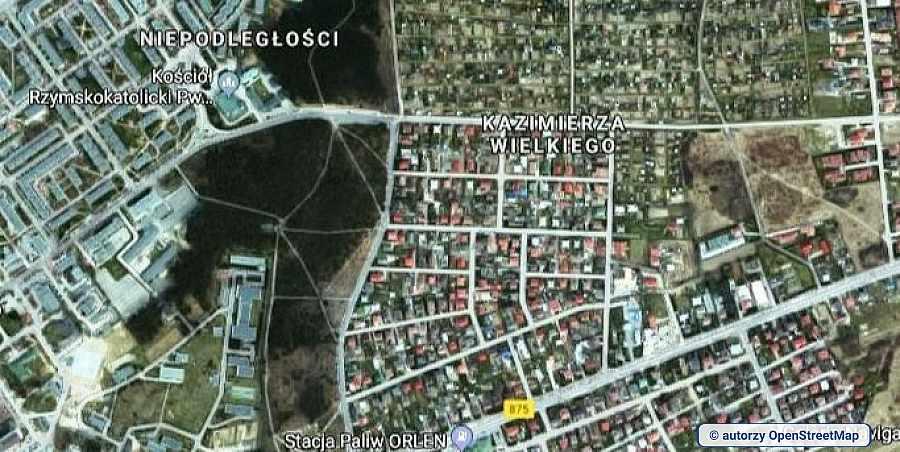 lokalizacja oferty 2117 LOKUM Nieruchomości Mielec na mapach OpenStreetMap