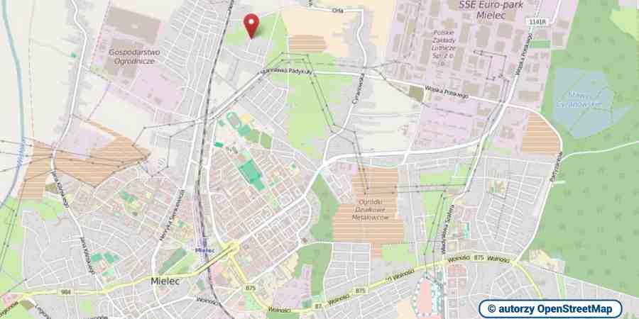 lokalizacja oferty 3102 LOKUM Nieruchomości Mielec na mapach OpenStreetMap