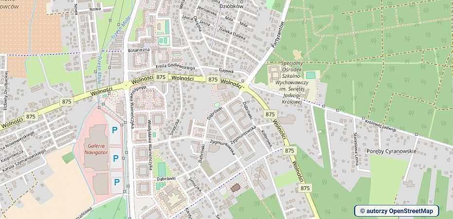 lokalizacja oferty 3119 LOKUM Nieruchomości Mielec na mapach OpenStreetMap