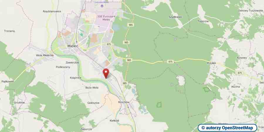 lokalizacja oferty 00315 LOKUM Nieruchomości Mielec na mapach OpenStreetMap