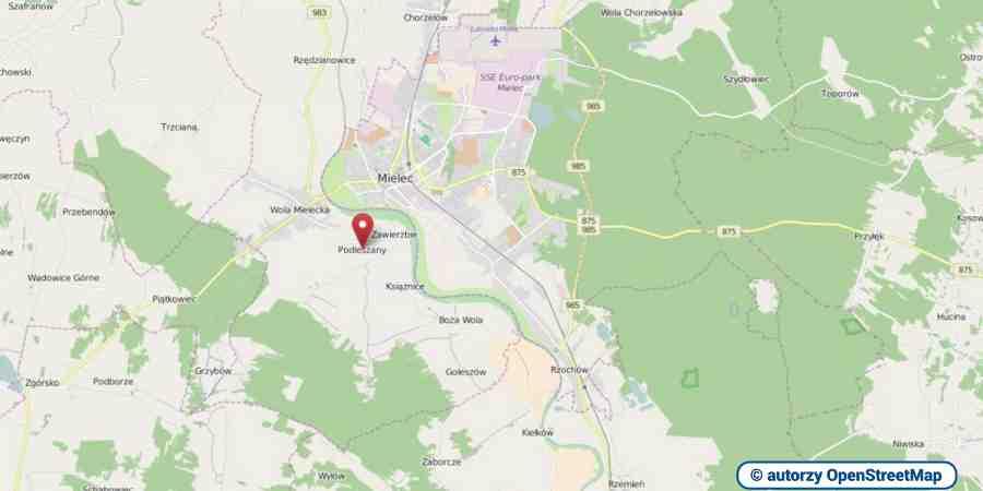 lokalizacja oferty 3129 LOKUM Nieruchomości Mielec na mapach OpenStreetMap