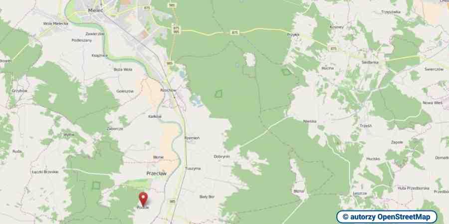 lokalizacja oferty 3011 LOKUM Nieruchomości Mielec na mapach OpenStreetMap