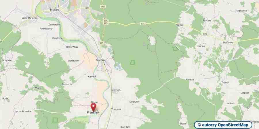 lokalizacja oferty 3085 LOKUM Nieruchomości Mielec na mapach OpenStreetMap