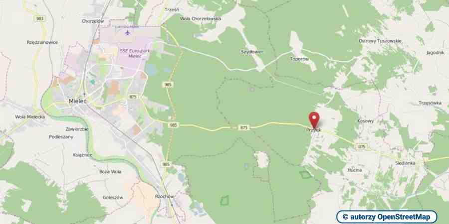 lokalizacja oferty 3134 LOKUM Nieruchomości Mielec na mapach OpenStreetMap