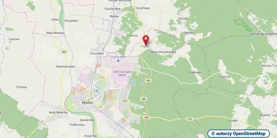lokalizacja oferty 3095 LOKUM Nieruchomości Mielec na mapach OpenStreetMap