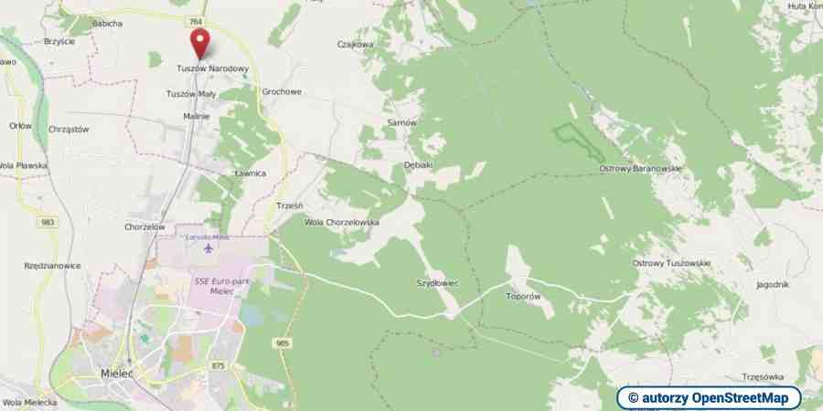lokalizacja oferty 3103 LOKUM Nieruchomości Mielec na mapach OpenStreetMap