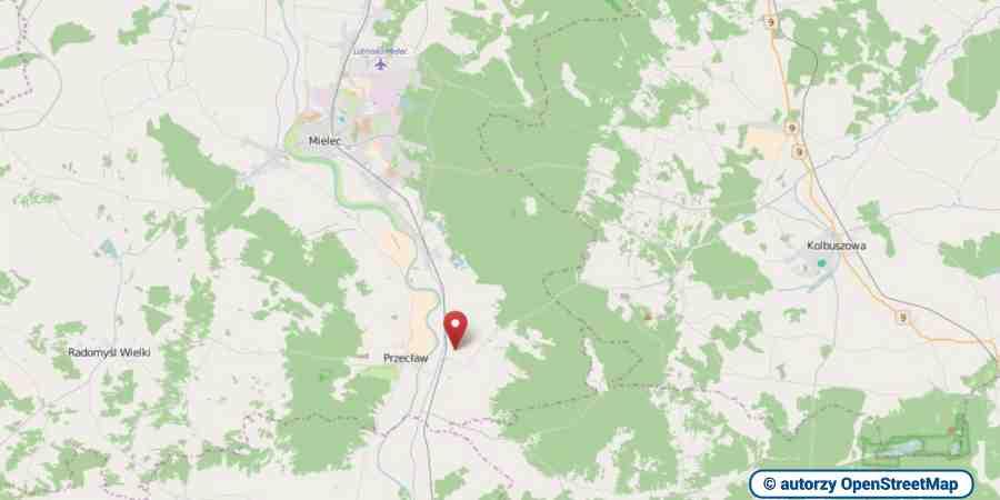 lokalizacja oferty 3057 LOKUM Nieruchomości Mielec na mapach OpenStreetMap