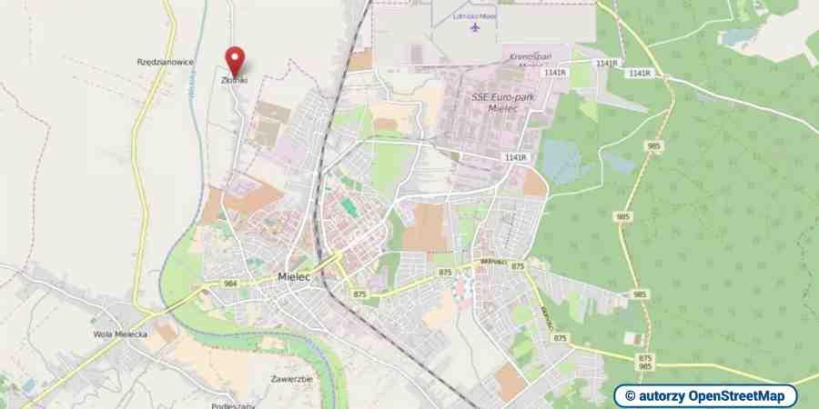 lokalizacja oferty 3112 LOKUM Nieruchomości Mielec na mapach OpenStreetMap